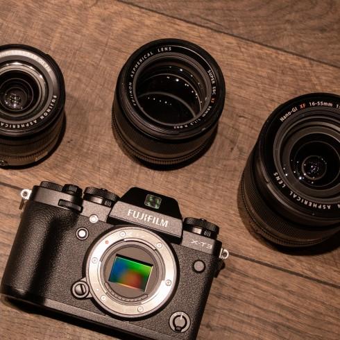 Fujifilm X-T3 a objektivy XF